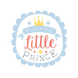 Little prince label, colorful hand drawn vector Illustration Royalty Free Stock Images