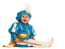 Little prince with a sword Stock Photos