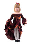 Little Princess. Studio Shoot Over White Background Royalty Free Stock Photo