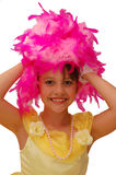 Little Princess. Dancer in costume and smiling with big eyes for camera stock photos