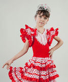Little princess. A young girl in costume princess royalty free stock photography