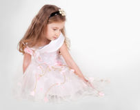 Little princess. Picture of the beautiful little princess in soft focus stock images