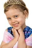 Little princess. Little smiling princess, isolate on white Stock Photos