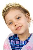 Little princess. Little smiling princess isolate on white Royalty Free Stock Photography