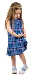 Little princess. Little pretty princess. Isolate on white Royalty Free Stock Photo