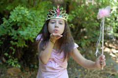 Little Princess. A little girl with a wand dressed up like a fairytale princess Stock Photo