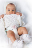 Little princess. A little pretty princess showinh her diaper royalty free stock images