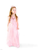 Little Princess. Dreamy five - year - old girlie as princess Royalty Free Stock Photo