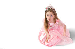 Little princess. Dreamy five - year - old girlie as princess Stock Photos