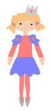 Little Princess. Isolated clip art  graphic of a little princess Royalty Free Stock Image
