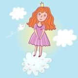 Little princess. Cute cartoon illustration Stock Photos