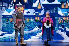 Little Princess Anna and Kristoff Royalty Free Stock Photos