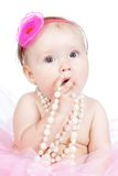 Little princess baby girl with accessories Stock Image