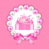 Little Princess Background Vector Illustration Stock Image