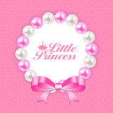 Little Princess Background Vector Illustration Royalty Free Stock Image