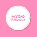 Little Princess Background Vector Illustration Royalty Free Stock Photo