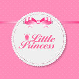 Little Princess Background Vector Illustration Royalty Free Stock Photography