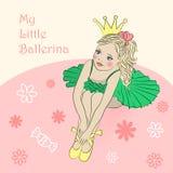 Little princess ballerina stock illustration