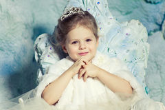 Little princess. Beautiful little princess with crown royalty free stock photo