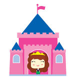 Little Princess in the castle Royalty Free Stock Image