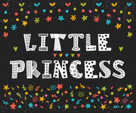 Little Princess. Cute greeting card for little girl.  Stock Photo