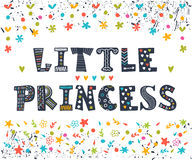 Little Princess. Cute greeting card for little girl.  Royalty Free Stock Images