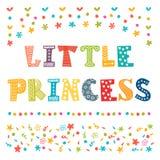 Little Princess. Cute greeting card for little girl vector illustration