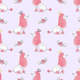 Little princess dogs pattern. stock illustration