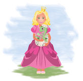 Little princess and dragon Royalty Free Stock Image