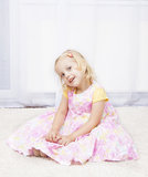 Little princess in floral dress Stock Photography