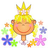 Little princess of flowers Stock Photography