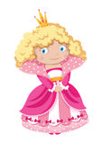 Little princess. Illustration of a little princess Stock Photos