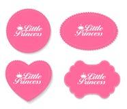 Little Princess Label Set Vector Illustration Stock Photography