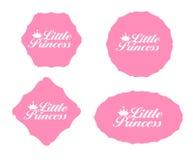 Little Princess Label Set Vector Illustration Stock Photo