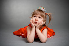 Little princess laying Royalty Free Stock Photo