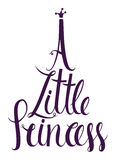 A Little Princess lettering design card Royalty Free Stock Photography