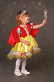 Little princess. Lovely little princess in costume Stock Photography