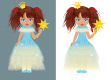 The little princess with a magic wand Stock Image