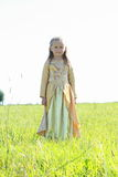 Little princess on a meadow Royalty Free Stock Images
