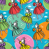 Little princess pattern Royalty Free Stock Photos