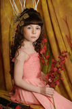 Little princess in a pink dress Stock Image