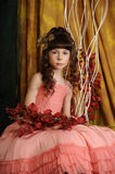 Little princess in a pink dress Royalty Free Stock Photography