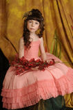 Little princess in a pink dress Stock Photography