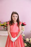 Little Princess with pink dress Stock Photo