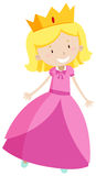 Little princess in pink dress Stock Image