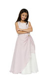Little princess in pink dress Royalty Free Stock Photo