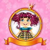 Little princess with pink hair. Background with a little princess with pink hair Royalty Free Stock Photography