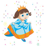 Little princess. Playing happly  in a ground Royalty Free Stock Images