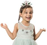 Little Princess Portrait Stock Image