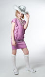 Little princess in purple dress Royalty Free Stock Images